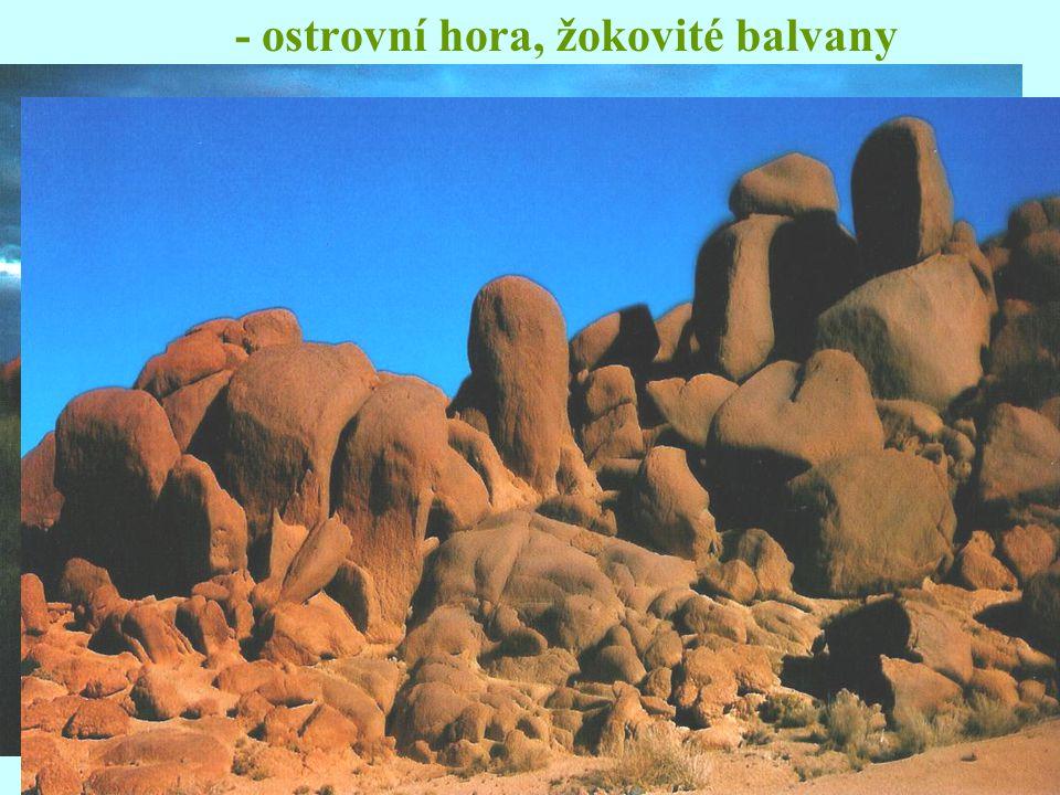 - ostrovní hora, žokovité balvany