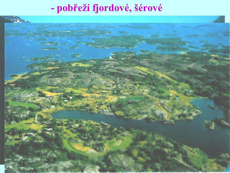 - pobřeží fjordové, šérové
