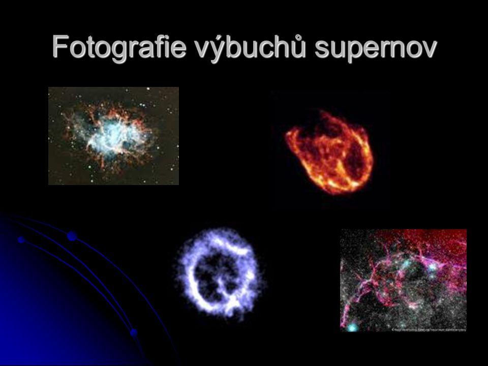 Fotografie výbuchů supernov