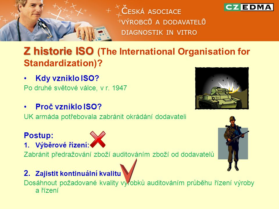 Z historie ISO Z historie ISO (The International Organisation for Standardization).