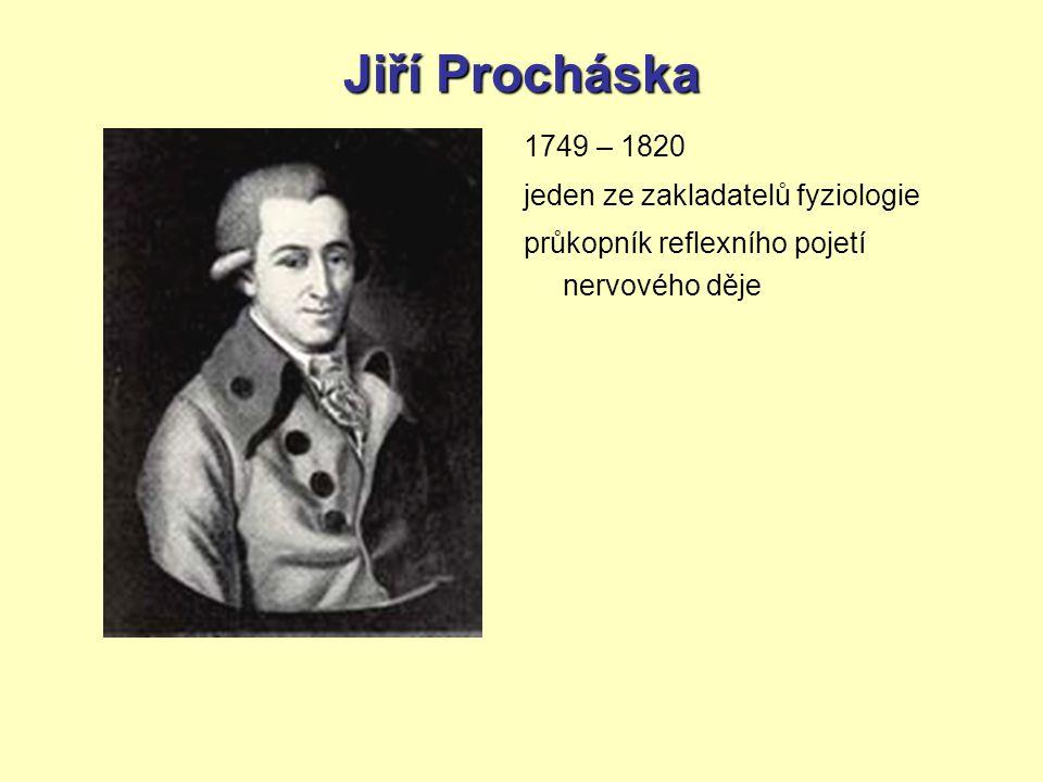 Jiří Procháska 1749 – 1820 jeden ze zakladatelů fyziologie průkopník reflexního pojetí nervového děje