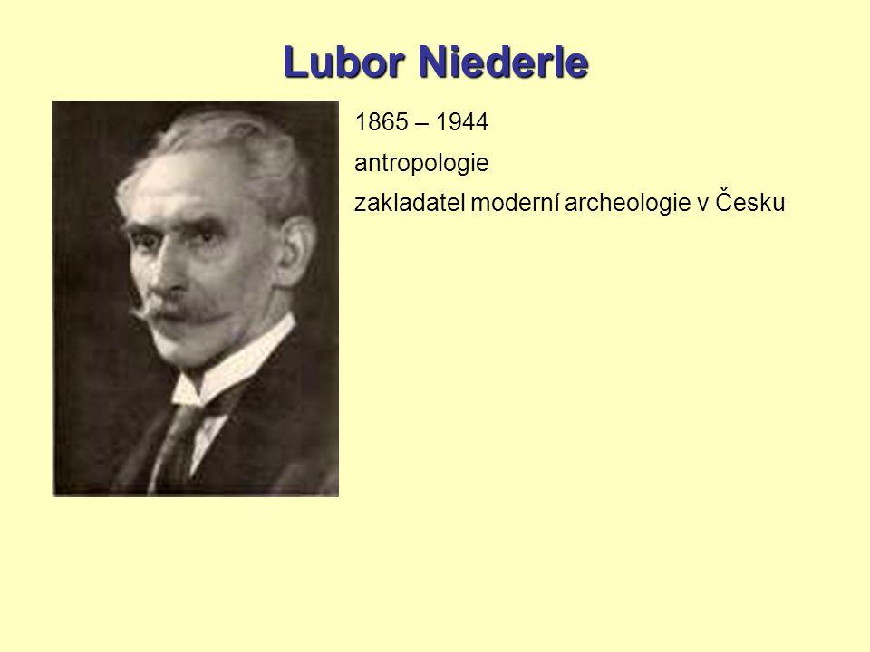 Lubor Niederle 1865 – 1944 antropologie zakladatel moderní archeologie v Česku