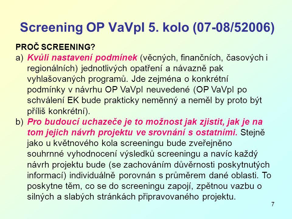 8 Screening OP VaVpI 5.
