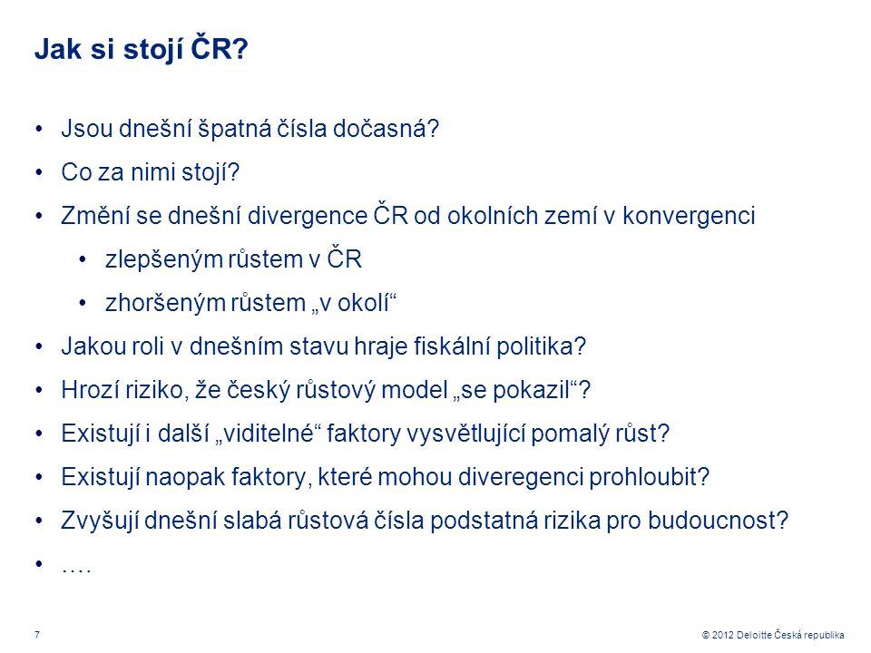 7 © 2012 Deloitte Česká republika Jak si stojí ČR.