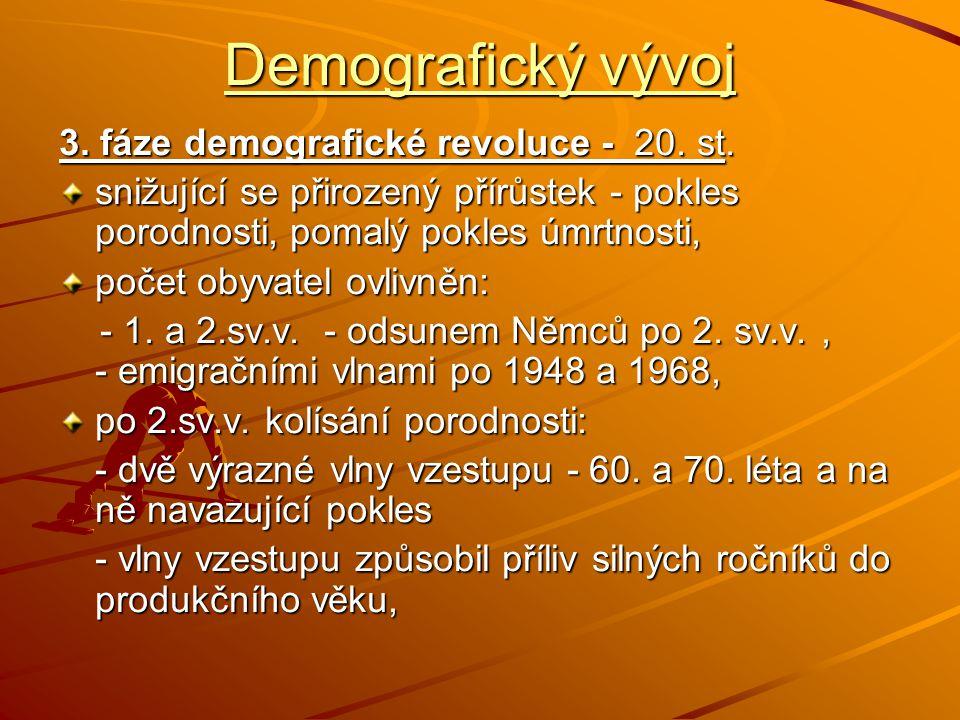 Demografický vývoj 4.fáze demografické revoluce - od 80.