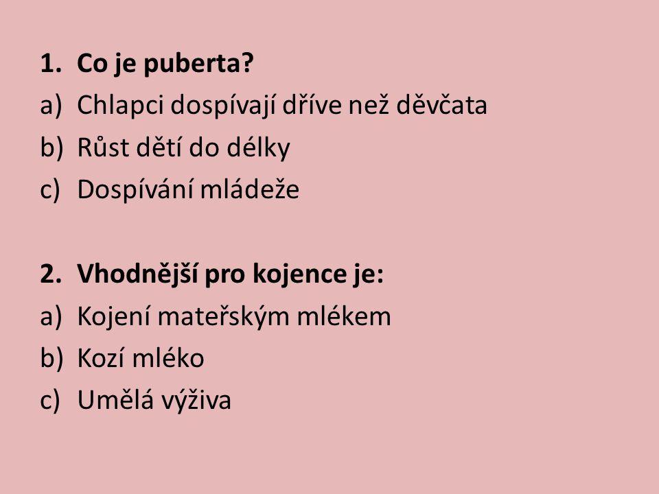 1.Co je puberta.