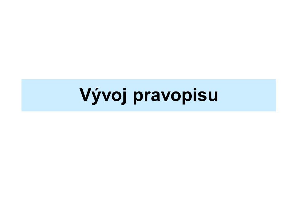 Vývoj pravopisu