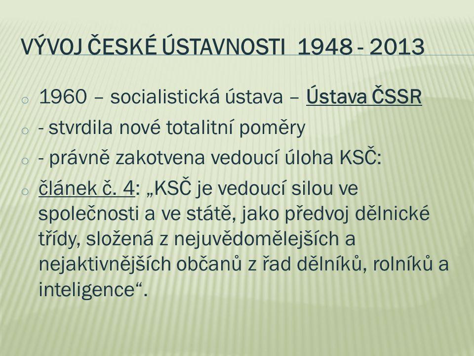 VÝVOJ ČESKÉ ÚSTAVNOSTI 1948 - 2012 o - 21.