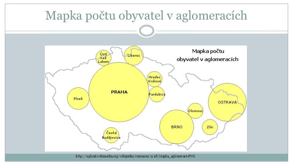 Mapka počtu obyvatel v aglomeracích http://upload.wikimedia.org/wikipedia/commons/a/a8/Mapka_aglomerace.PNG