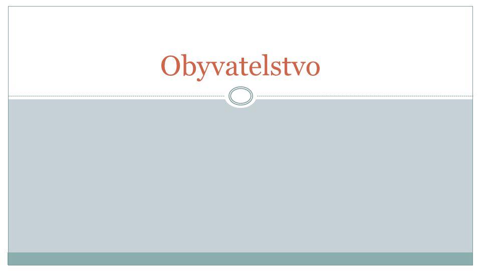 Počet obyvatel ČR 10 562 214 (k 26.březnu 2011) ze 44 států Evropy je Česko na 14.