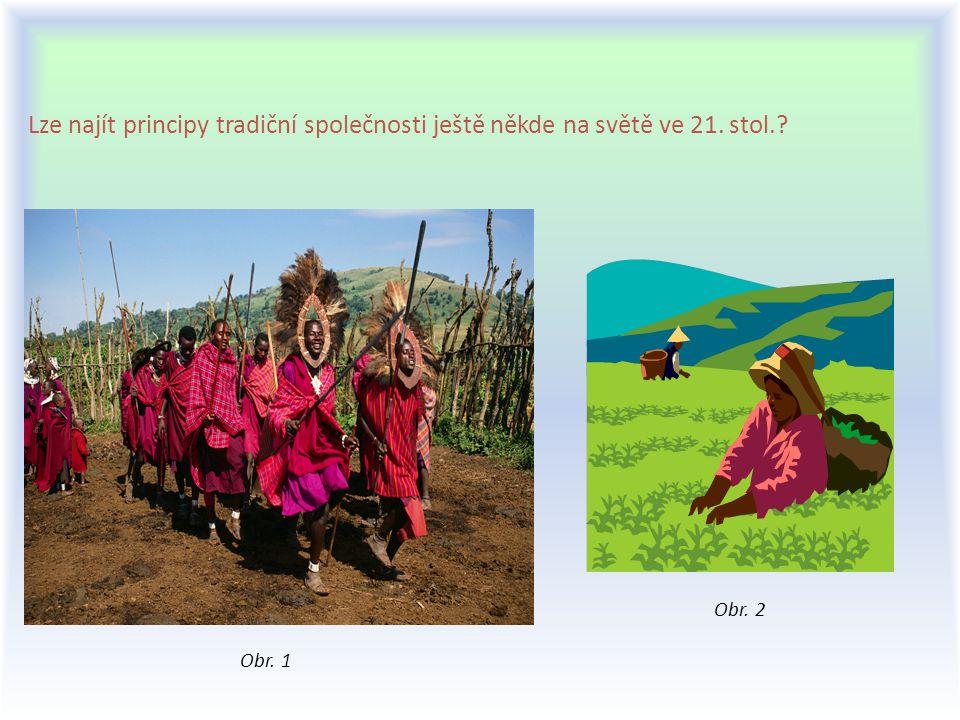 Lze najít principy tradiční společnosti ještě někde na světě ve 21. stol.? Obr. 1 Obr. 2