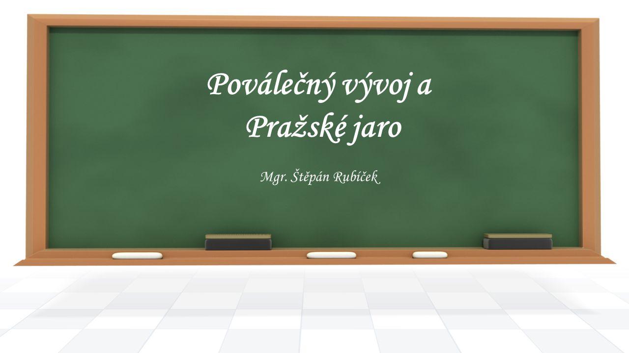 Poválečný vývoj a Pražské jaro Mgr. Štěpán Rubíček