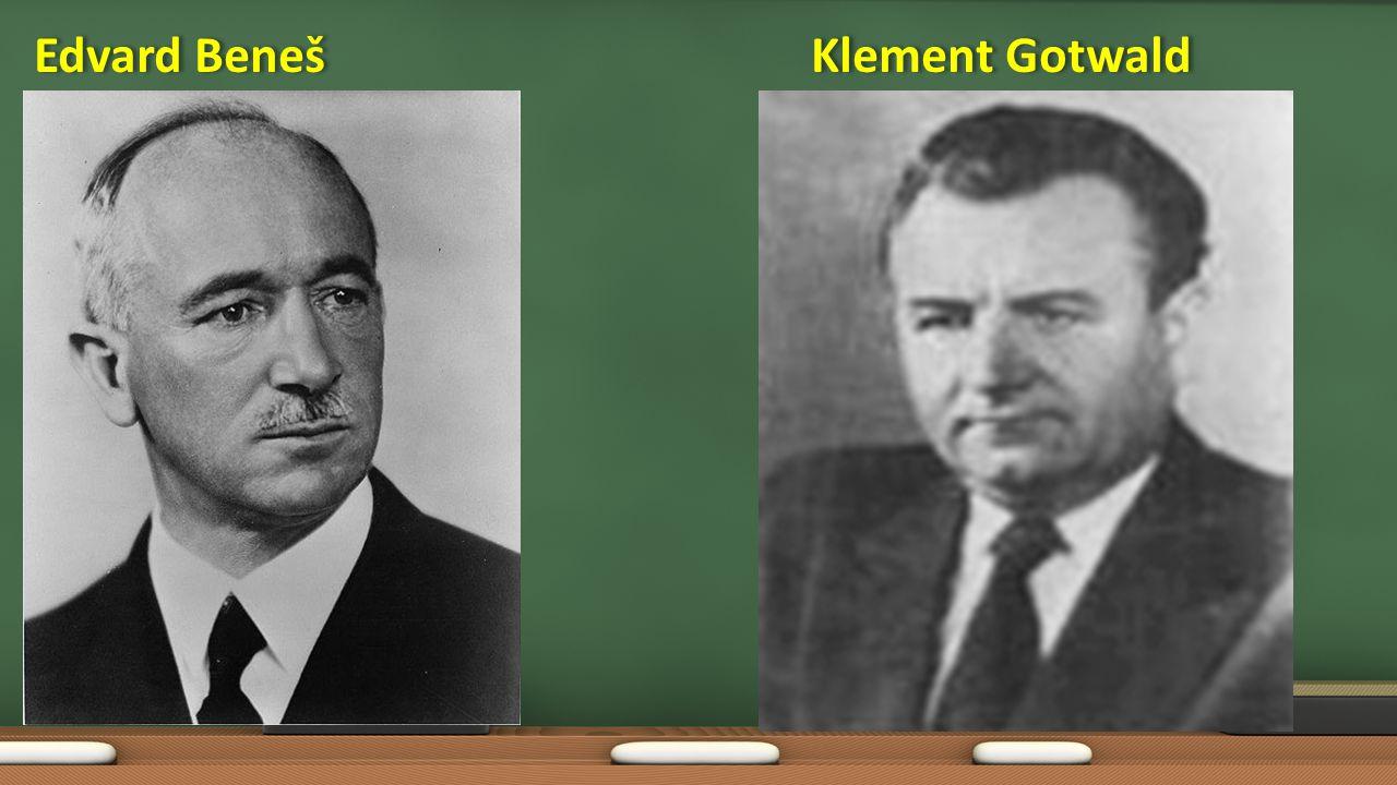 Edvard Beneš Klement Gotwald