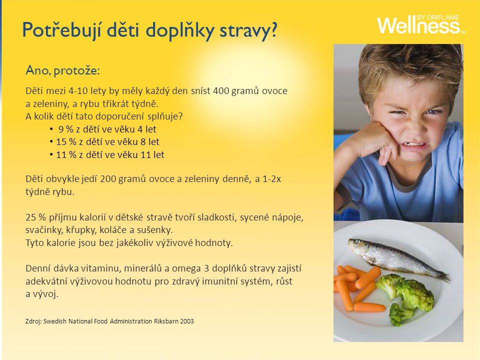 Děti mezi 4-10 lety by měly každý den sníst 400 gramů ovoce a zeleniny, a rybu třikrát týdně.