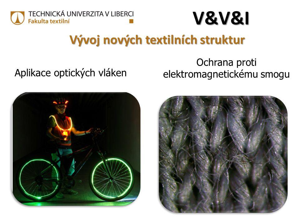 Aplikace optických vláken V&V&IV&V&IV&V&IV&V&I Ochrana proti elektromagnetickému smogu Vývoj nových textilních struktur