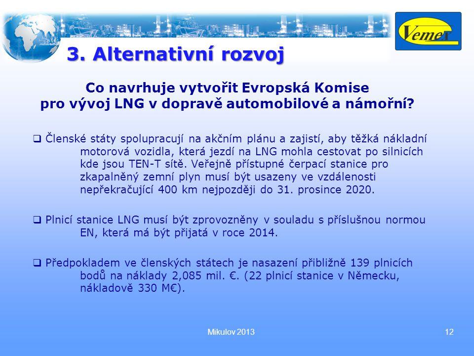 Mikulov 201312 Co navrhuje vytvořit Evropská Komise pro vývoj LNG v dopravě automobilové a námořní.