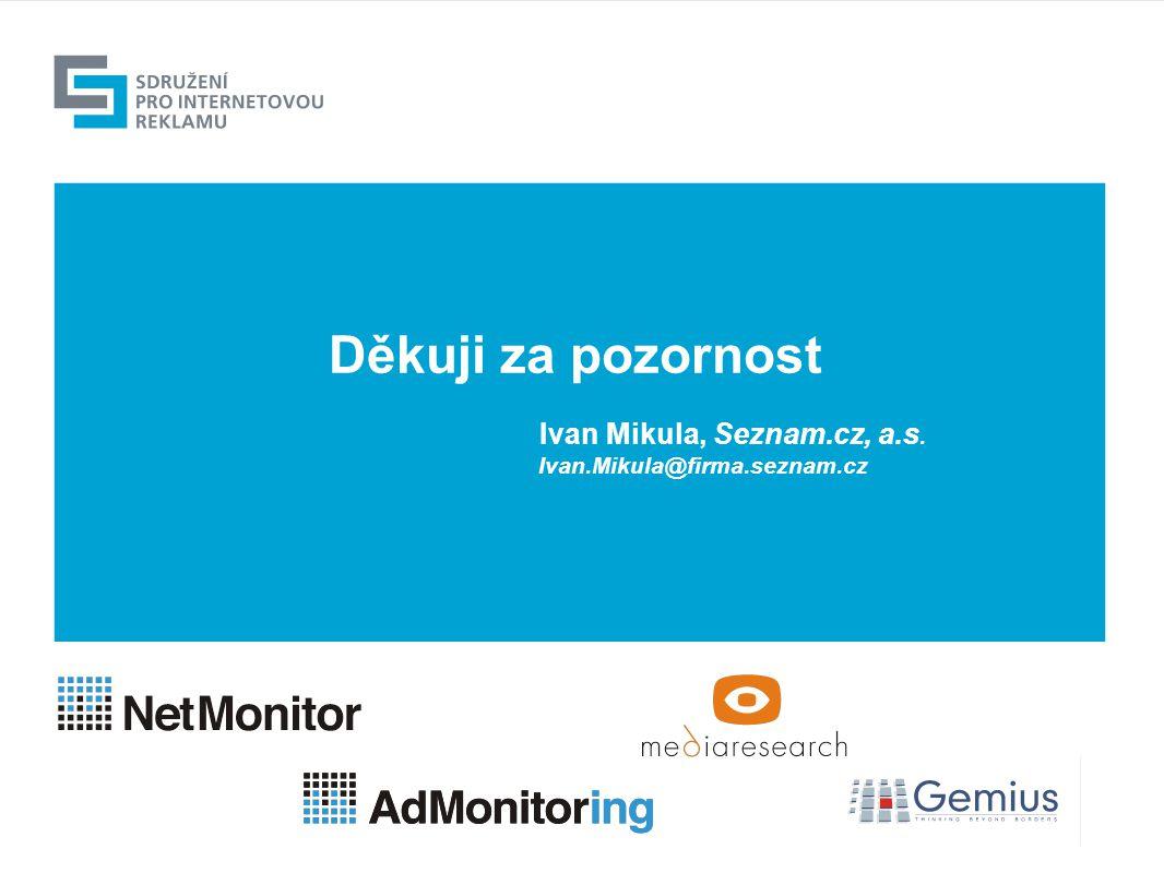 Děkuji za pozornost Ivan Mikula, Seznam.cz, a.s. Ivan.Mikula@firma.seznam.cz