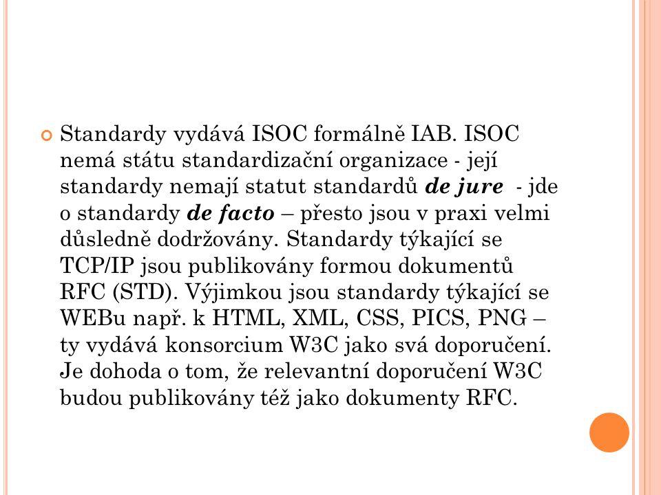 Standardy vydává ISOC formálně IAB.