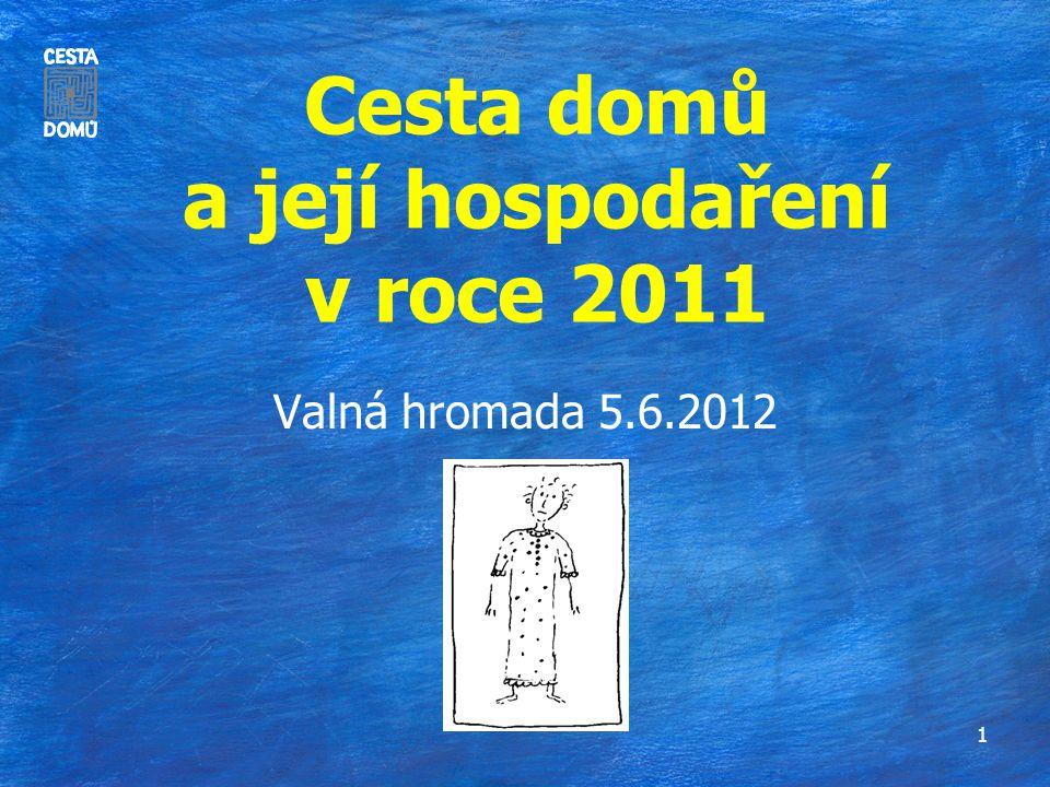 Cesta domů a její hospodaření v roce 2011 Valná hromada 5.6.2012 1