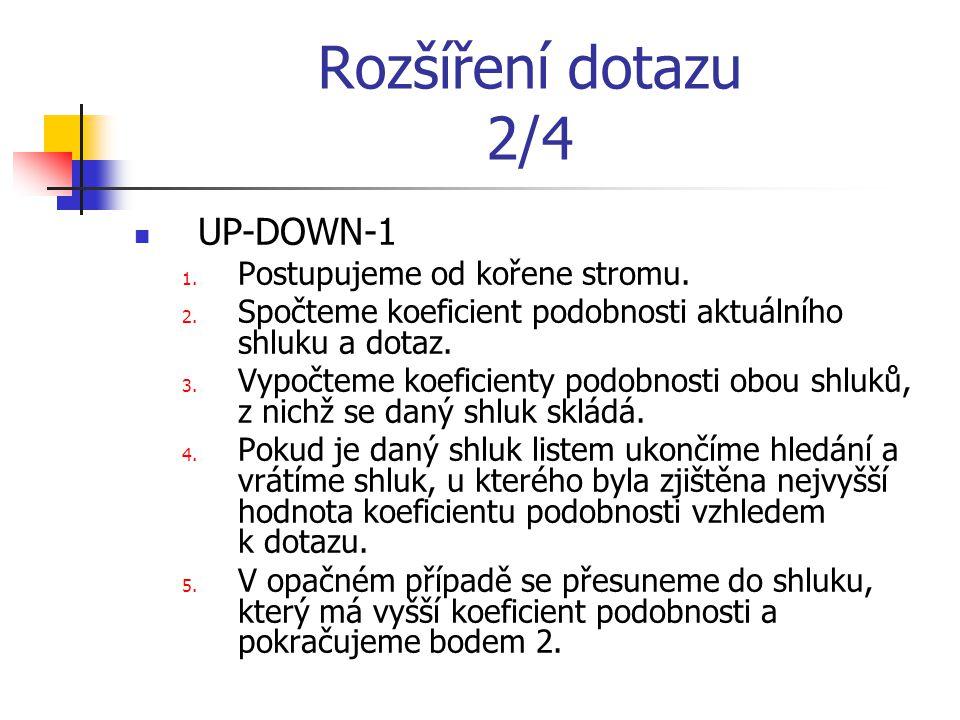 Rozšíření dotazu 2/4 UP-DOWN-1 1. Postupujeme od kořene stromu.