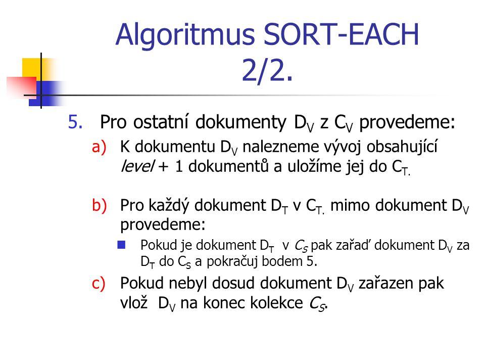 Algoritmus SORT-EACH 2/2.