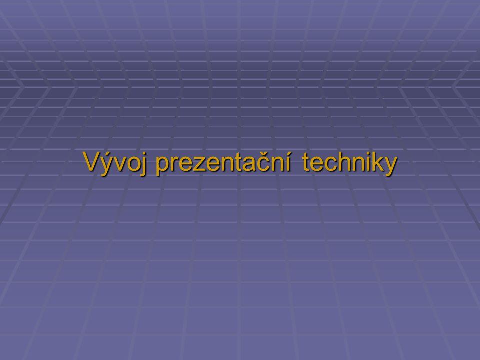 Vývoj prezentační techniky