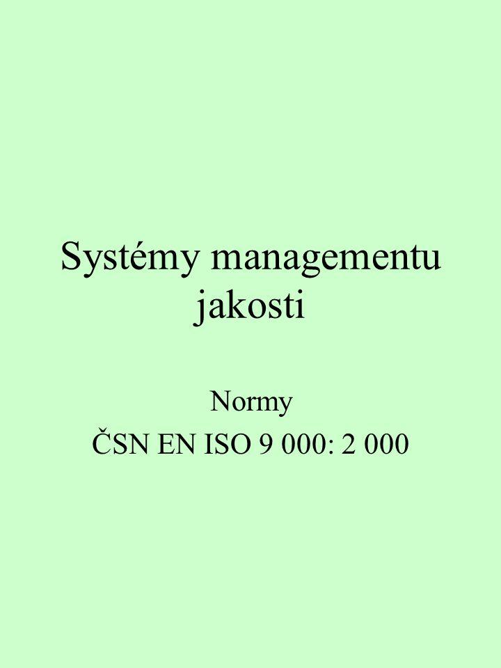 Systémy managementu jakosti Normy ČSN EN ISO 9 000: 2 000