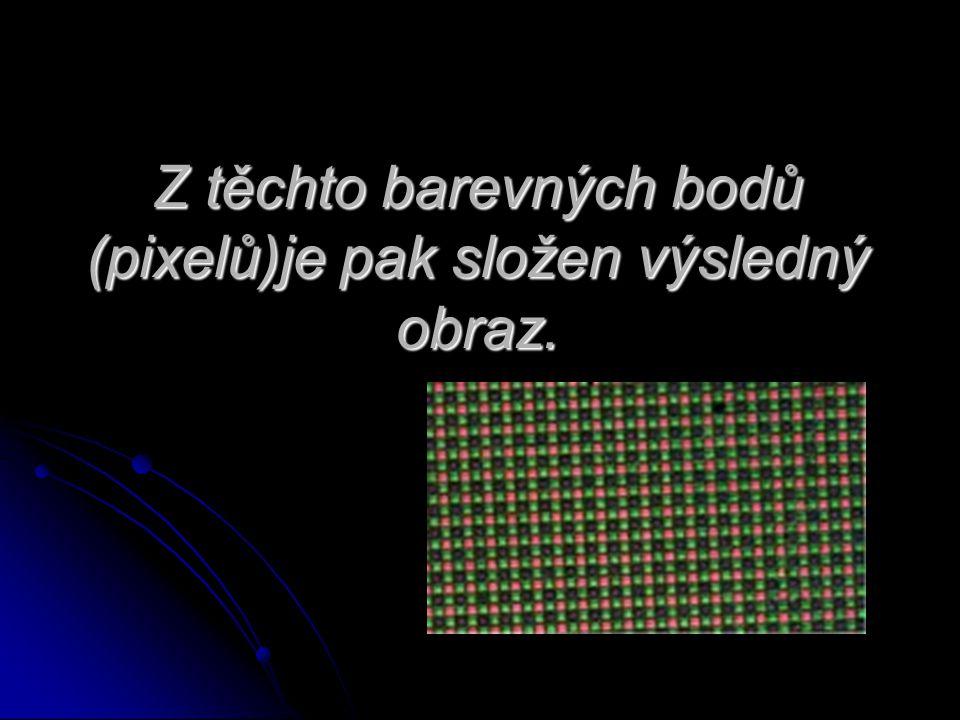 Z těchto barevných bodů (pixelů)je pak složen výsledný obraz.