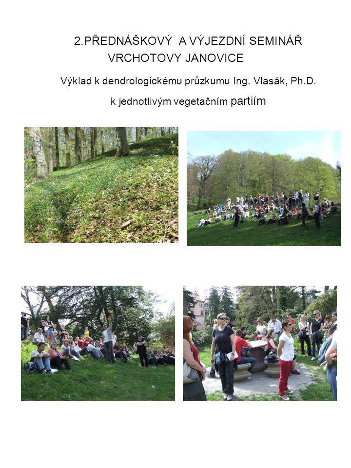 VRCHOTOVY JANOVICE 2.PŘEDNÁŠKOVÝ A VÝJEZDNÍ SEMINÁŘ Výklad k dendrologickému průzkumu Ing. Vlasák, Ph.D. k jednotlivým vegetačním partiím