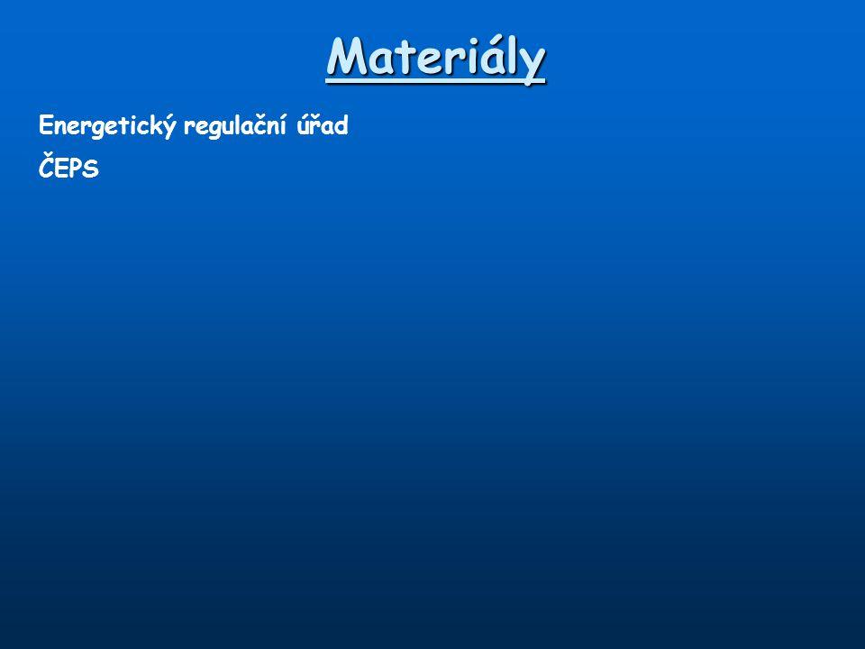 Materiály Energetický regulační úřad ČEPS