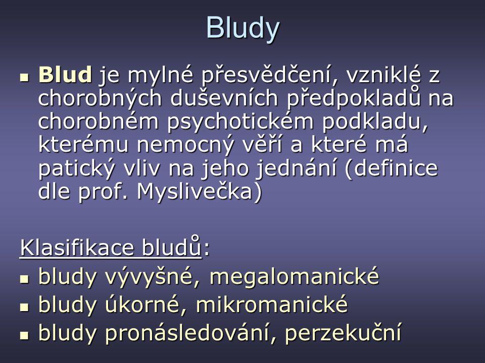 Bludy Blud je mylné přesvědčení, vzniklé z chorobných duševních předpokladů na chorobném psychotickém podkladu, kterému nemocný věří a které má patick
