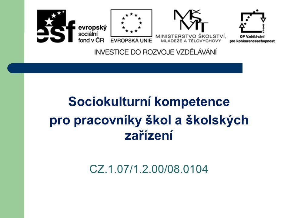 Sociokulturní kompetence pro pracovníky škol a školských zařízení CZ.1.07/1.2.00/08.0104