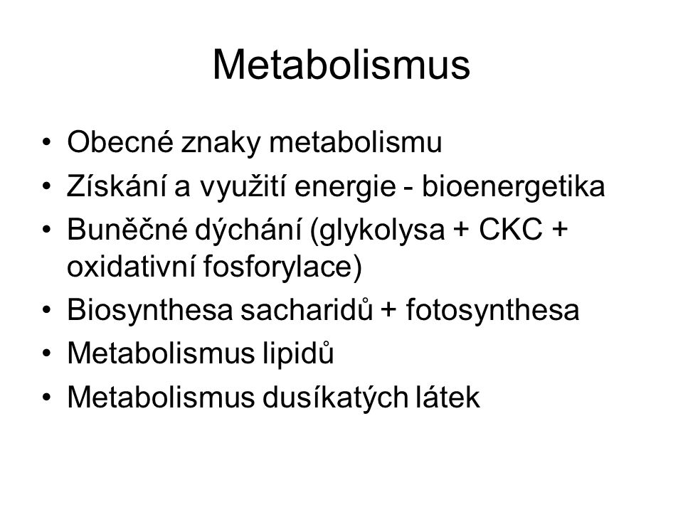Metabolismus - principy BUNĚČNÁ TEORIE Robert Hook (1667) 