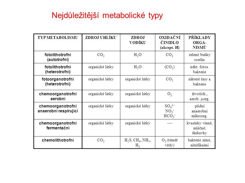 Příjem látek (především uhlík): anorganické látky → autotrofy organické látky → heterotrofy