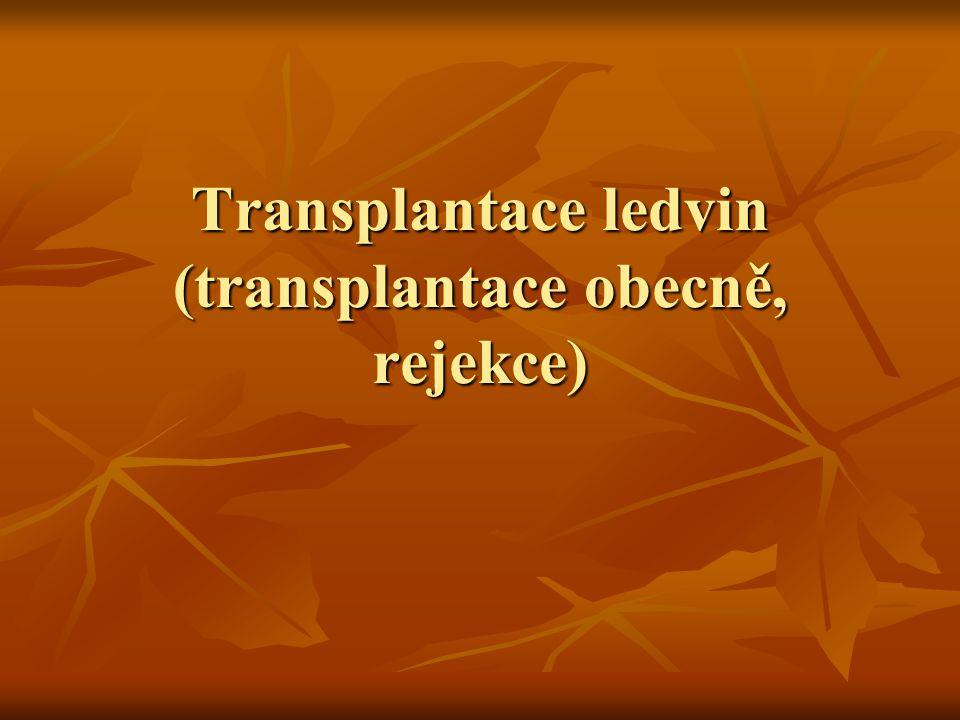 Transplantace Autologní: sám sobě (modifikací je transplantace u 1vaječných dvojčat) Autologní: sám sobě (modifikací je transplantace u 1vaječných dvojčat) Xenogenní: využití štěpu z jiného živočišného druhu Xenogenní: využití štěpu z jiného živočišného druhu Alogenní dárce: jiný člověk Alogenní dárce: jiný člověk