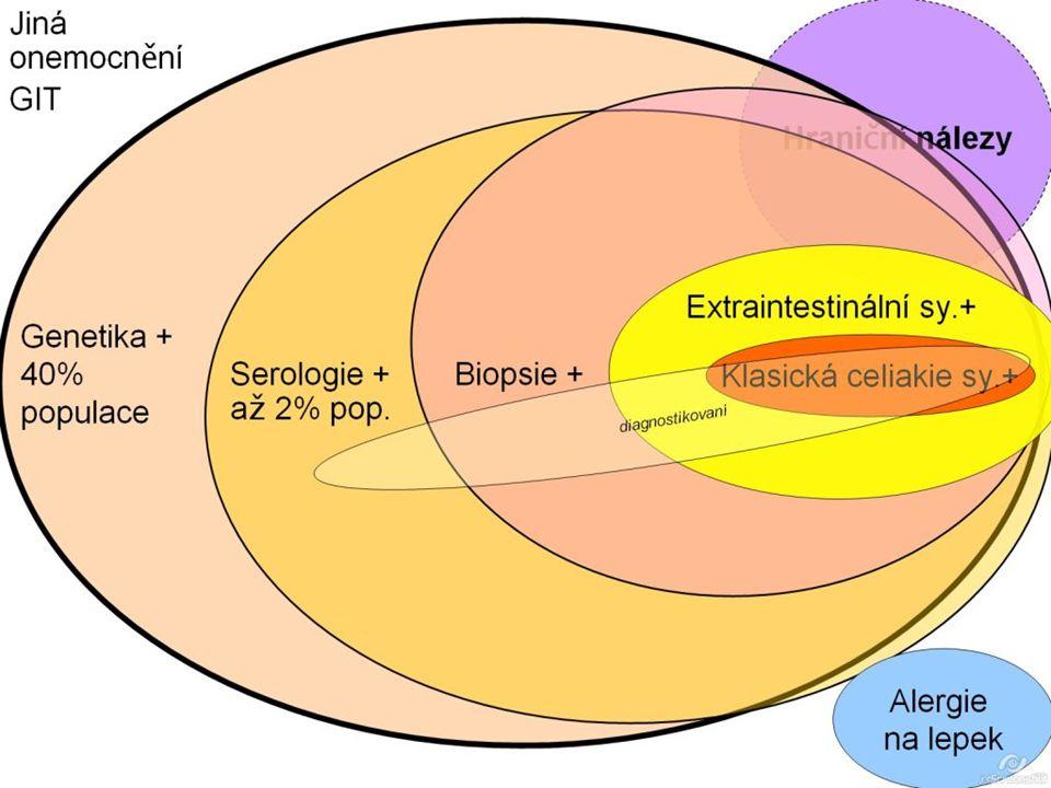 Ulcerózní kolitida Chronický zánět Fáze klidu a aktivace Změny a vředy povrchu sliznice konečníku a tlustého střeva