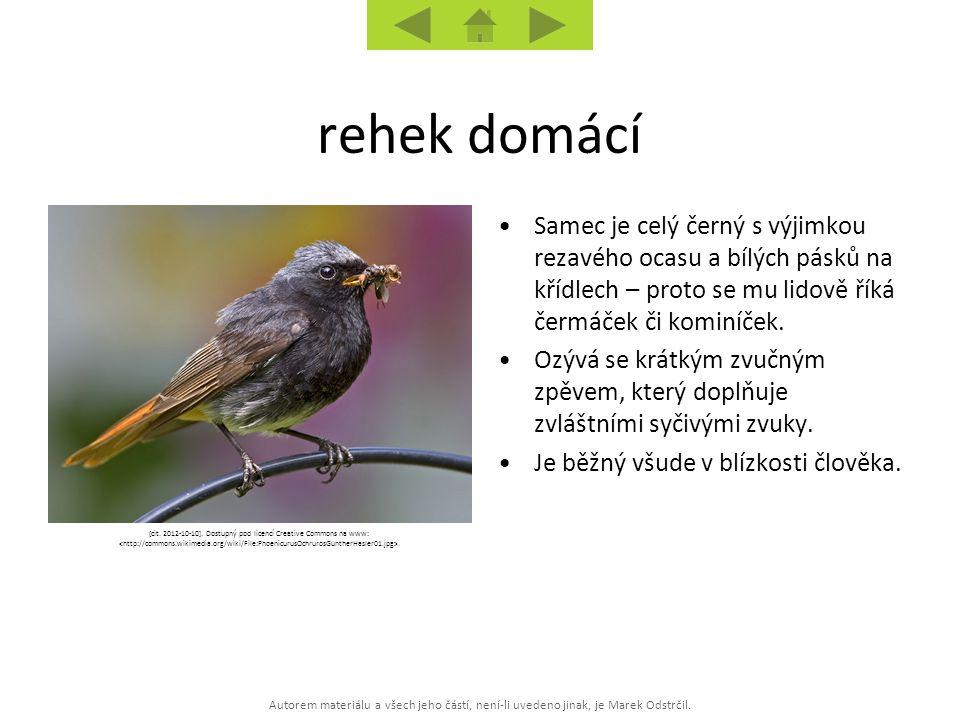 Autorem materiálu a všech jeho částí, není-li uvedeno jinak, je Marek Odstrčil. [cit. 2012-10-10]. Dostupný pod licencí Creative Commons na www:. Same