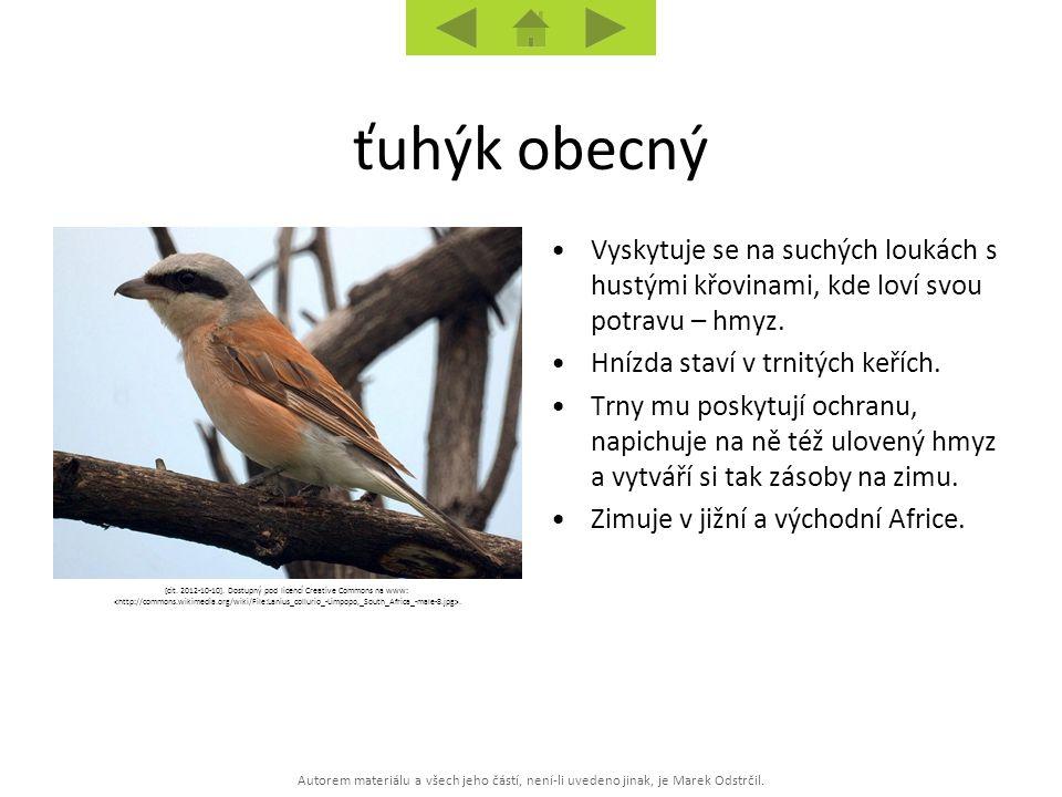 Autorem materiálu a všech jeho částí, není-li uvedeno jinak, je Marek Odstrčil. [cit. 2012-10-10]. Dostupný pod licencí Creative Commons na www:. Vysk