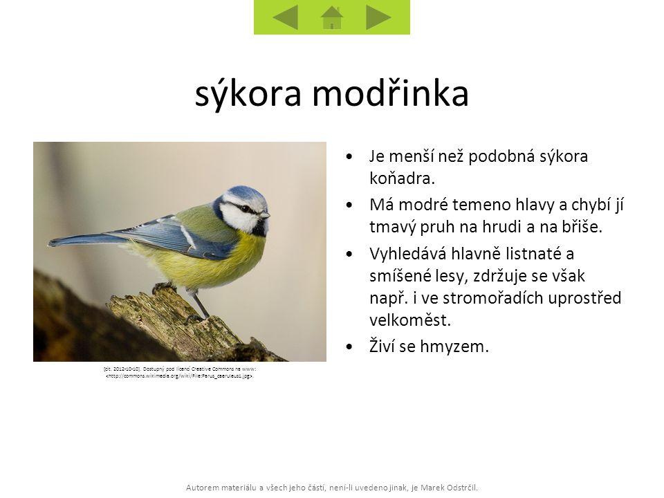 Autorem materiálu a všech jeho částí, není-li uvedeno jinak, je Marek Odstrčil. [cit. 2012-10-10]. Dostupný pod licencí Creative Commons na www:. Je m