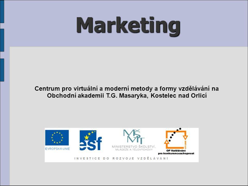 Marketing Centrum pro virtuální a moderní metody a formy vzdělávání na Obchodní akademii T.G.