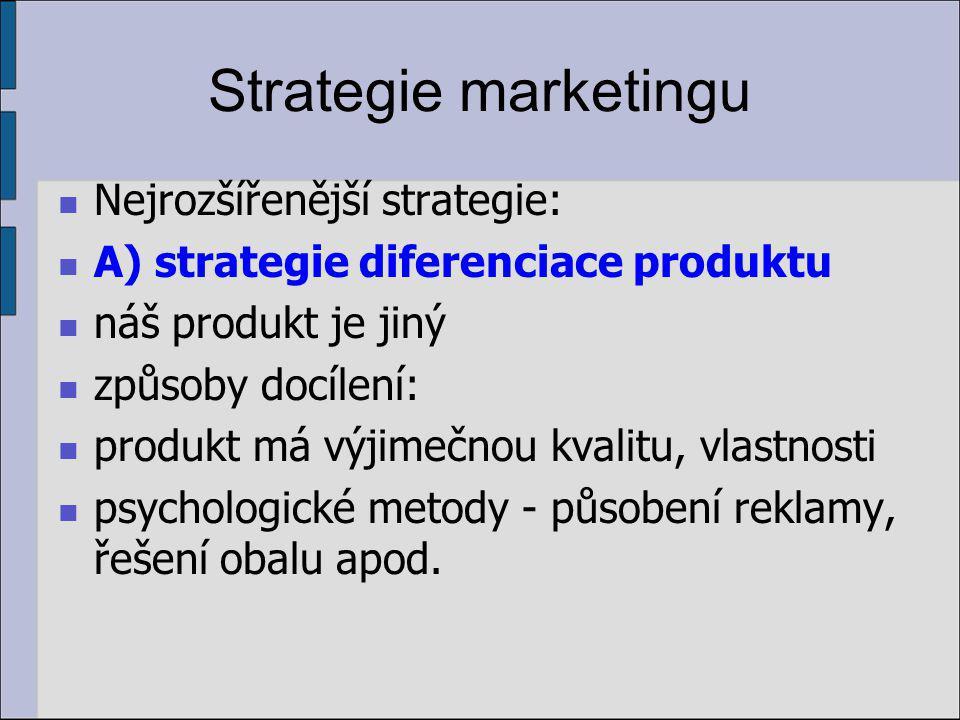 Segmentace trhu Stanovení pozice značky nebo produktu na trhu je vyjádřením místa konkrétního produktu mezi ostatními produkty nabízenými na trhu.