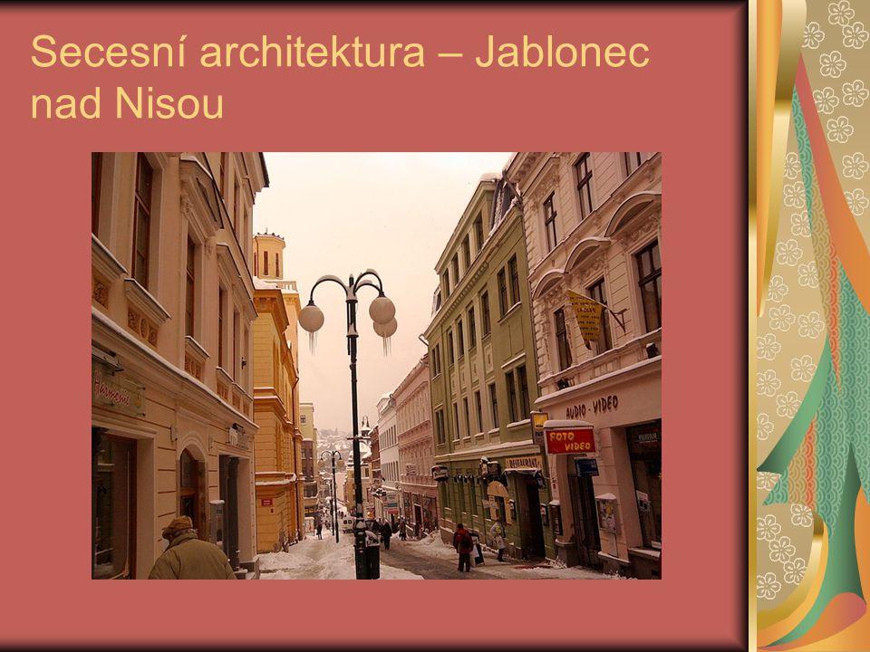 Secesní architektura – Jablonec nad Nisou