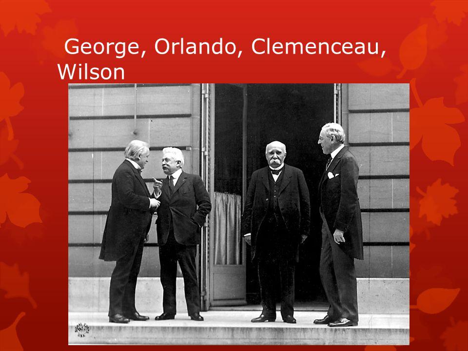 George, Orlando, Clemenceau, Wilson