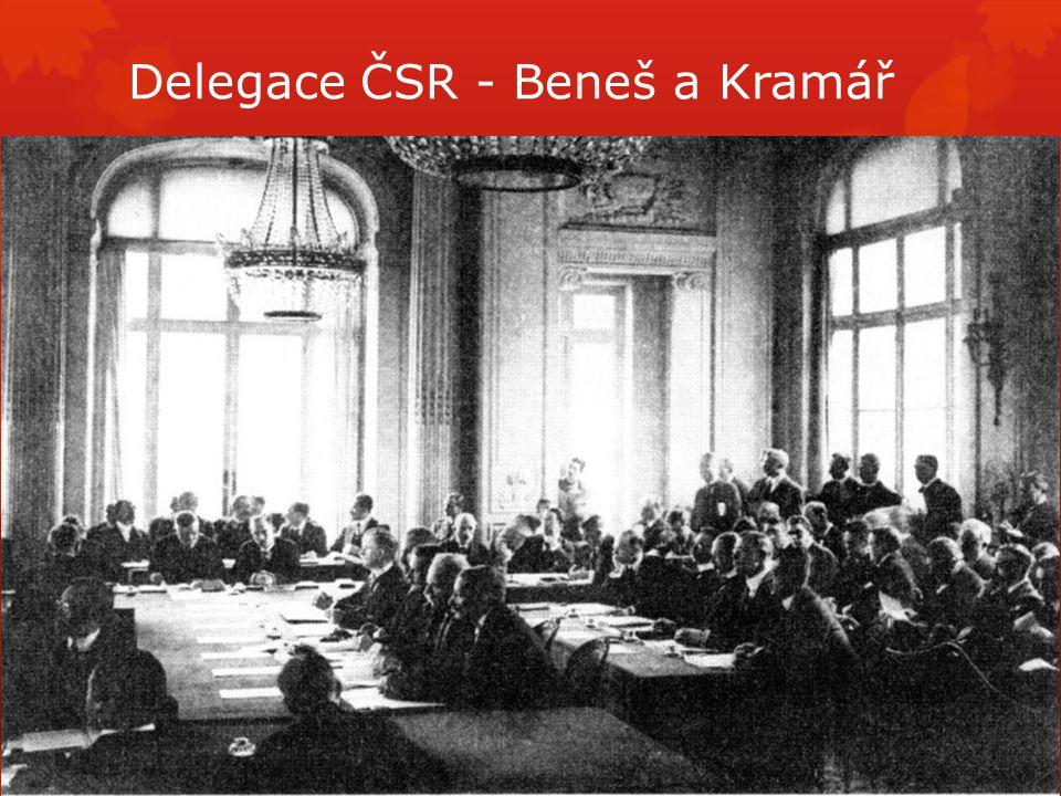 Delegace ČSR - Beneš a Kramář