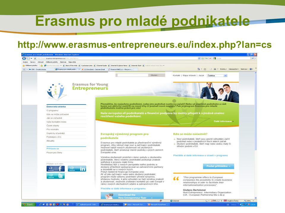 Erasmus pro mladé podnikatele http://www.erasmus-entrepreneurs.eu/index.php?lan=cs