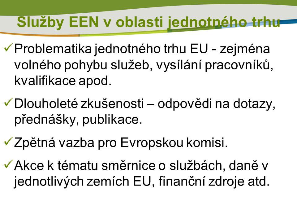 Poradenská činnost – obecně Co od nás klienti požadují: Kontakty na instituce – oborové a dozorové organizace, zájmová sdružení, hospodářské komory, vědecko- výzkumná centra, akreditační instituce, ministerstva Implementace směrnic EU a norem (EN) do českého práva, včetně výjimek a zvláštních/ dodatečných požadavků, hygienické předpisy, DPH, technické normy Možnosti financování v určitých oblastech, účasti v mezinárodních projektech – tip na partnery,vyhledání partnerů, Podmínky založení firmy v ČR a informace o podnikatelském prostředí Podmínky pro dovoz a značení zboží – např.