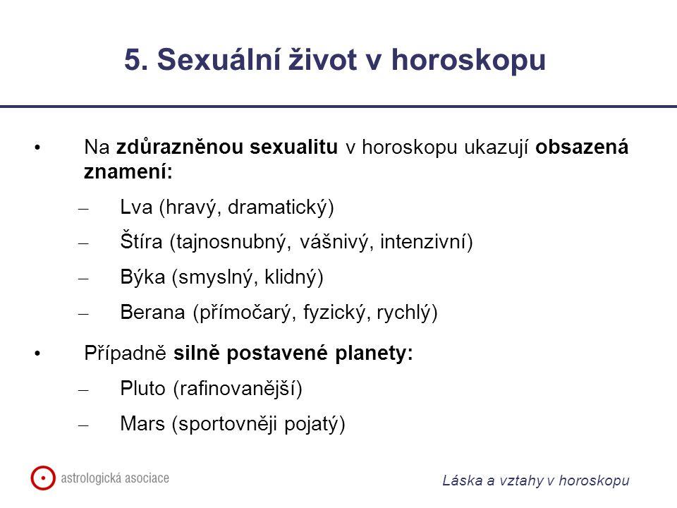 Láska a vztahy v horoskopu 5.