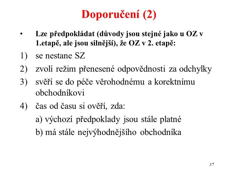 37 Lze předpokládat (důvody jsou stejné jako u OZ v 1.etapě, ale jsou silnější), že OZ v 2.