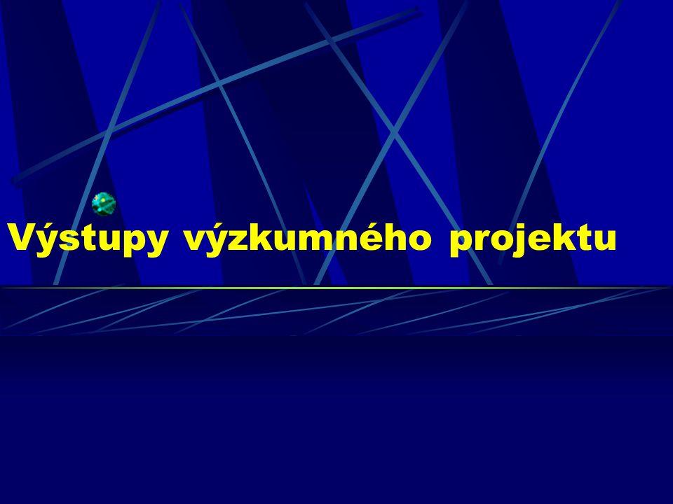 Výstupy výzkumného projektu