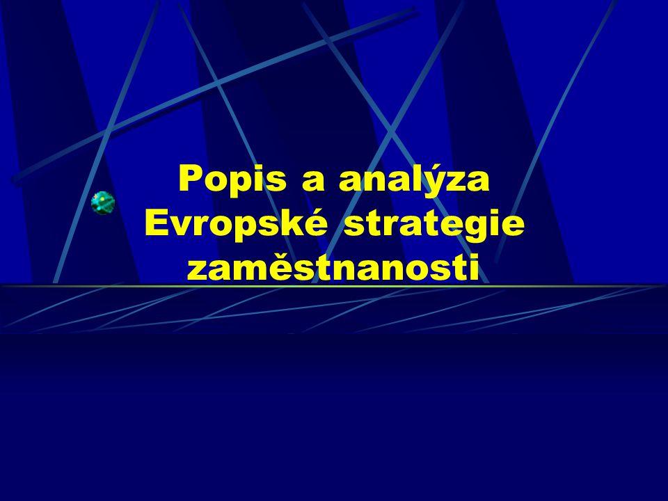 Popis a analýza Evropské strategie zaměstnanosti